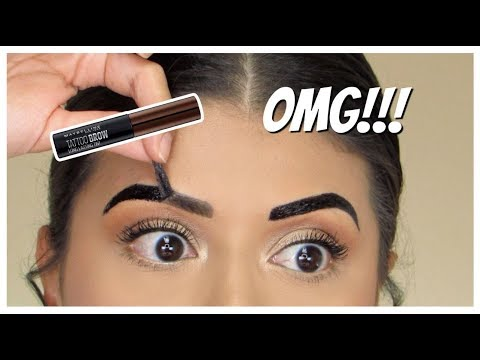 OMG!!! NEW Maybelline Tattoo Studio Brow TINT! | Review