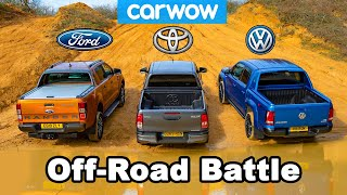 VW Amarok vs Ford Ranger vs Toyota Hilux: OFF-ROAD BATTLE!