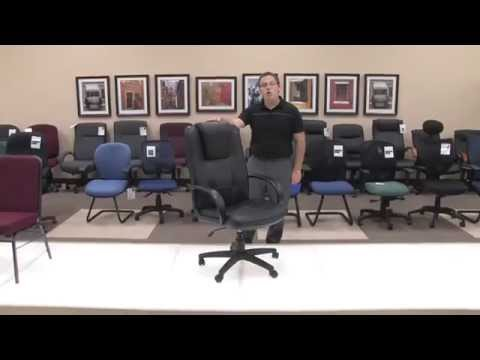 Video for Promotional High Back Black Leather Chair