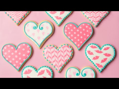 Simple Valentine's Day Cookies – My New Cookie Decorating Kit