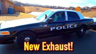 Copart $1250 2009 Ford P71 Crown Vic Police Car - New Exhaust + Sticker Removal