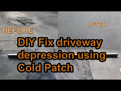 How to DIY fix Asphalt Driveway Depression using Cold Patch