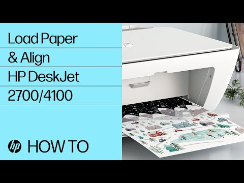 How to Load Paper and Align Cartridges in the HP DeskJet 2700 and DeskJet Plus 4100 Series Printers
