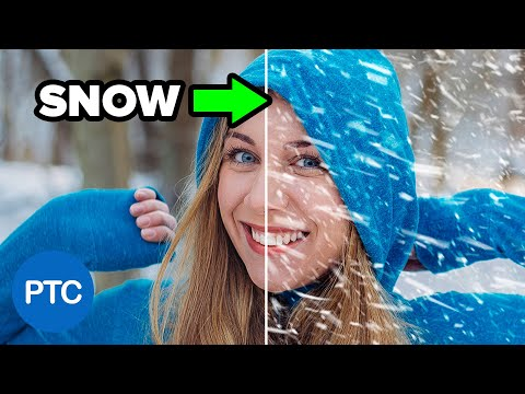 How to Create SNOW in Photoshop – Make REALISTIC Snow – Photoshop Tutorial