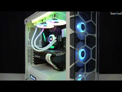 Gamer PC in weissem Design