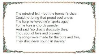 John McDermott - The Minstrel Boy Lyrics