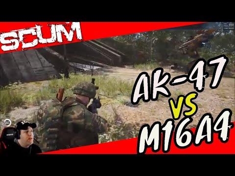 SCUM: Whats more Powerful AK VS M16 - смотреть онлайн на Hah