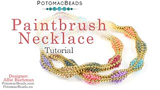 Paintbrush Necklace- DIY Jewelry Making Tutorial By PotomacBeads