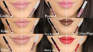 Kylie Cosmetics Vs Colourpop Dupes With Lip Swatches On MAC NC42/Indian/Pakistani/Tan/Brown Skin