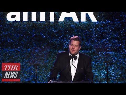 James Corden Apologizes for Harvey Weinstein amfAR Jokes | THR News