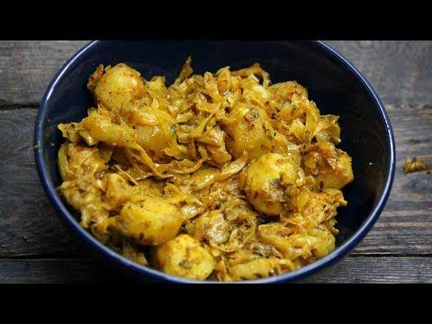आलू पत्ता गोभी की सब्जी Cabbage Recipe - Simple Cabbage Sabzi Recipe - Aloo Bandh Gobhi Masala