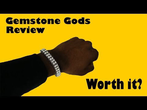 White Gold Tennis Bracelet Unboxing and Review | Gemstone Gods