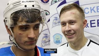 Никита Самойлов и Александр Воробьев после матча «Иртыш»- «Темиртау»