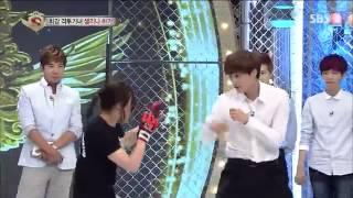 EXO -kai y baekhyun golpeados por una mujer