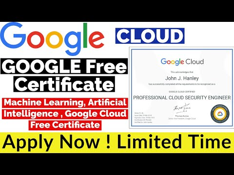 GOOGLE Free Certificate | Machine Learning , Artificial Intelligence ...