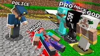 Minecraft NOOB vs PRO vs HACKER vs GOD : INVESTIGATION  NOOB! in Minecraft Animation
