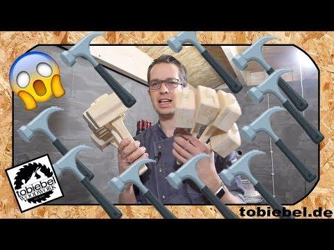 Ich baue 100 Holzhammer und das geht so einfach⎮Hammer selber bauen⎮Holz Hammer bauen⎮Werkzeug  DIY