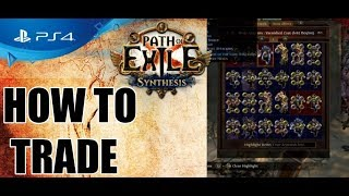 Path of Exile PS4 - How to TRADE (Beginner guide)