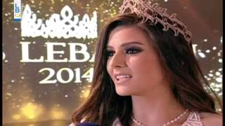 Saly Greige Miss Lebanon 2014 interview post crowning