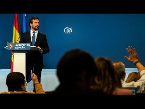 Pablo Casado hace balance del año 2020