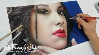 Realistic Airbrush Painting Female Portrait - Rafa Fonseca
