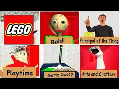 How To Build: LEGO All Characters Baldi's Basics | In Education and Learning Compilation! (видео)