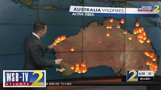 Here's how massive the Australian wildfires actually are