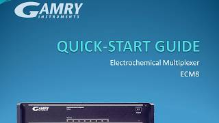 ECM8 Electrochemical Multiplexer Quick Start Guide