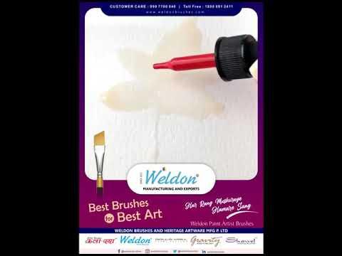 Professional Golden Taklon Brushes