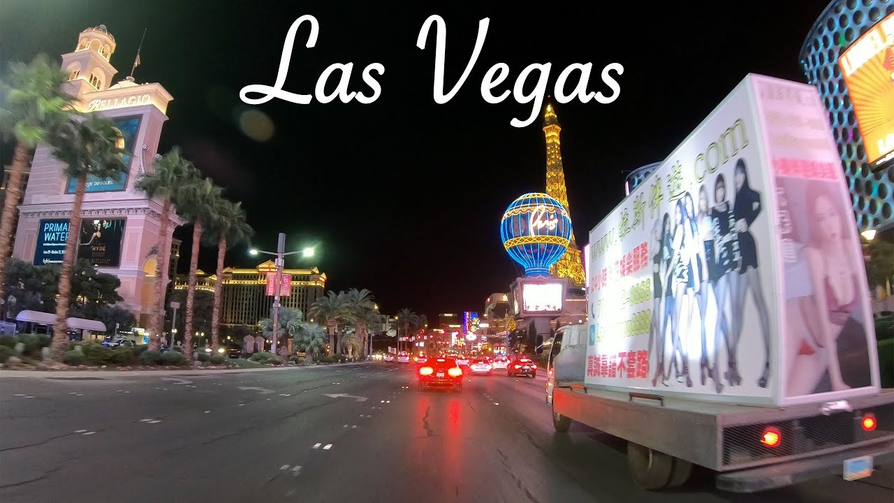 Las Vegas Strip NIGHT DRIVE | Hyperlapse in 4K