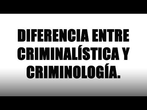 Diferencia entre Criminalística y Criminología | Criminalística