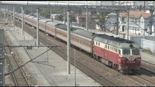 preview picture of video '[China Railway]DF4D/SS8 Hukun Line Express Trains Passing 滬昆線快速莘庄通過'