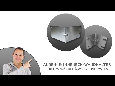 Außen- & Inneneck-Wandhalter für WDVS/ Wärmedämmverbundsystem - für sehr große Sonnensegel