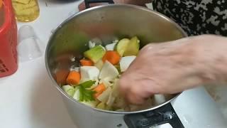 מתכון למרק ירקות עם עוף
