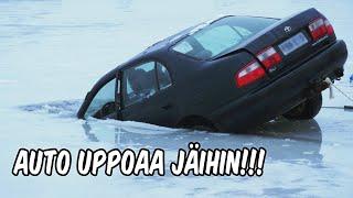 Janne Uppoaa Auton Mukana Jäihin KWR
