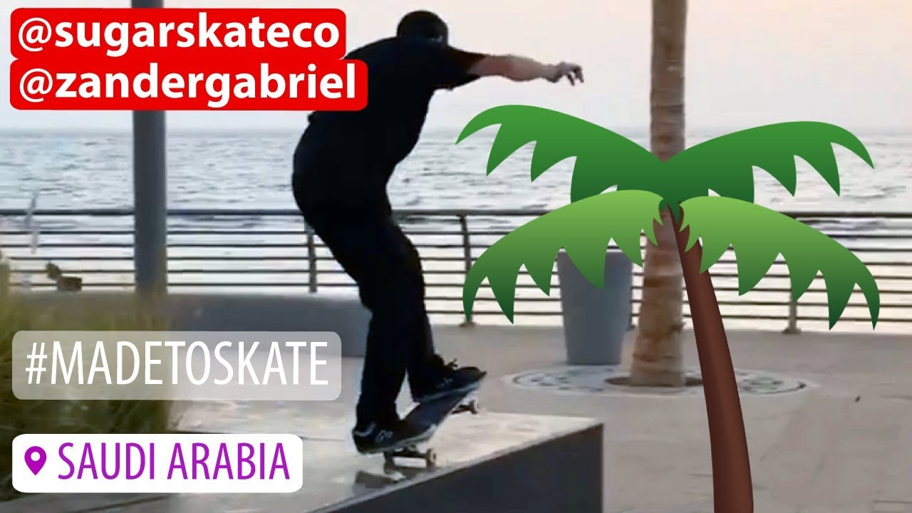 Sugar Skateboards - Zander Gabriel Skateboarding in Saudi Arabia - Sugar Skate Co.