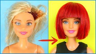 DIY Barbie Hairstyles; Eski Barbie'nizi Dönüştürme: Kırmızı Küt Barbie Saçı Nasıl Yapılır Kendin Yap