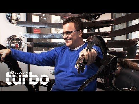 Muebles creados con piezas de autos   Chatarra de oro   Discovery Turbo