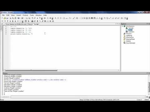 Roblox Dev Tutorials: Scripting - Tables & Arrays - смотреть