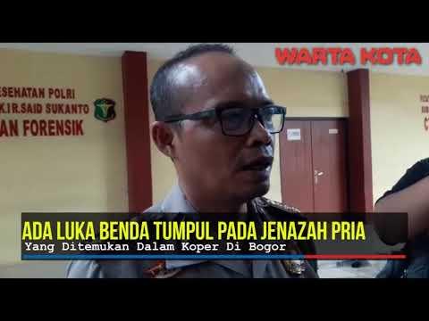 Ada Luka Benda Tumpul Pada Jenazah Pria Dalam Koper Di Bogor