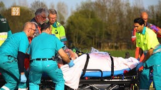 Traumahelikopter landt bij ernstig ongeval N201 Vinkeveen