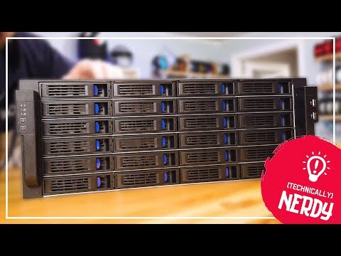 24 HARD DRIVES??? Norco 4U Rack Mount with UNRAID!