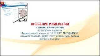 Внесение изменений в ежемесячные отчеты по 223-ФЗ