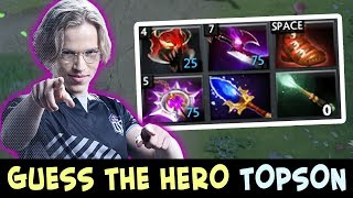 Guess the hero — Topson with THIS MID PICK