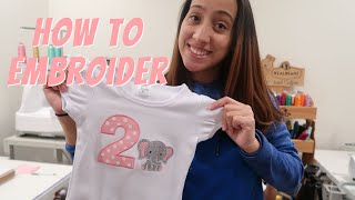 HOW TO EMBROIDER: Embroidering An Applique On A Shirt! Embroidery Business, Etsy Seller!