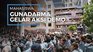 Tuntut Kejelasan Sistem Pembayaran, Ribuan Mahasiswa Universitas Gunadarma Depok Gelar Aksi Demo