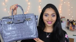Perfect structured Quality Bag Small Caty Croco Review