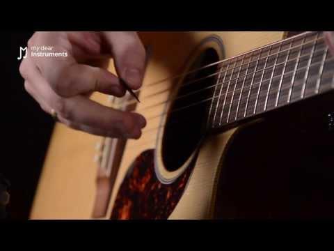 Gitarre lernen - 6/21 Saitenanschlag mit dem Plektrum