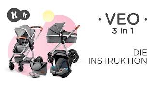 VEO 3 in 1-Kinderwagen von Kinderkraft  | Montageanleitung