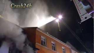 preview picture of video 'Wohnhausbrand in der Fußgängerzone von Landau . am 04.01.2013'